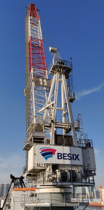 KenzFigee delivers fully tailored offshore crane to BESIX